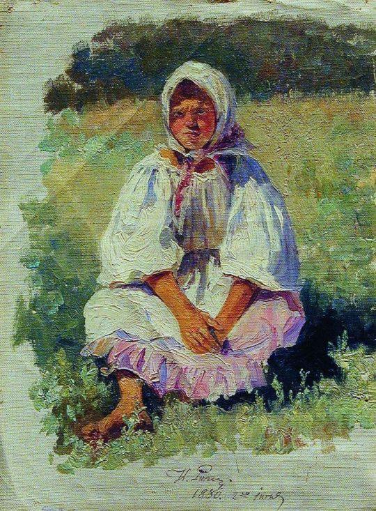 Крестьянская девочка. 1880