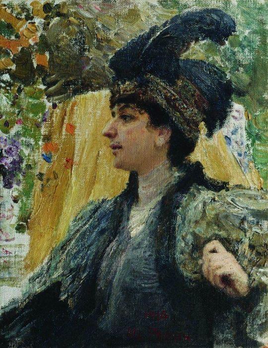 Портрет художницы В.В.Веревкиной. 1916