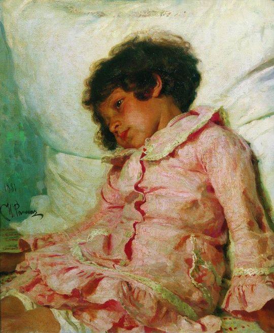 Портрет Нади Репиной. 1881