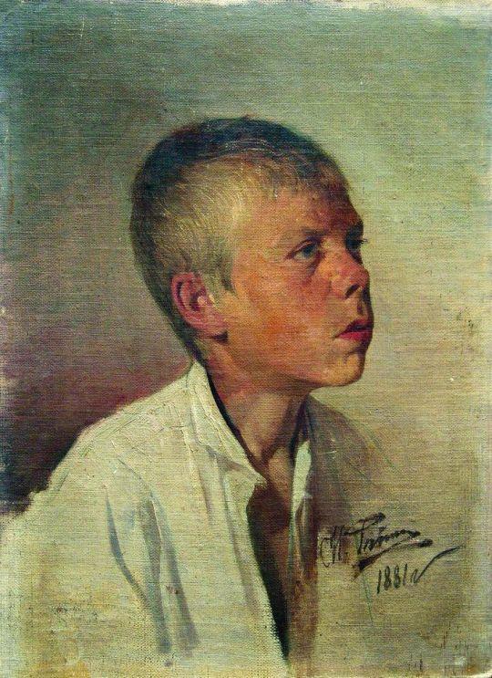 Портрет мальчика. 1881
