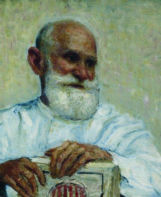Портрет академика И.П.Павлова. 1924