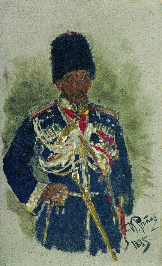 Генерал в форме царского конвоя. П.А.Черевин. 1885