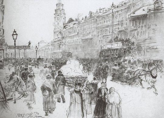 Невский проспект. 1887