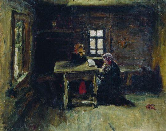 В избе. 1878