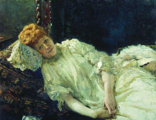 Портрет пианистки графини Луизы Мерси д'Аржанто. 1890