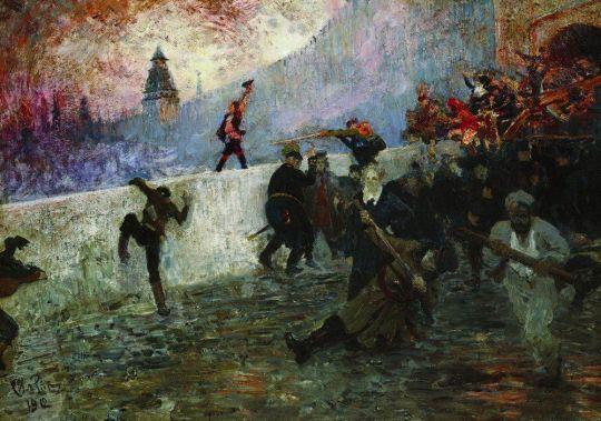 В осажденной Москве в 1812 году. 1912