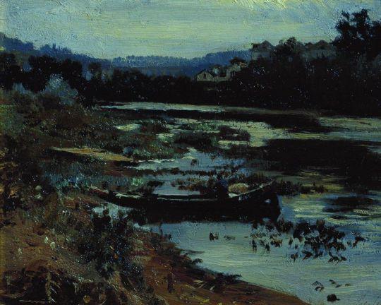 Пейзаж с лодкой. 1875