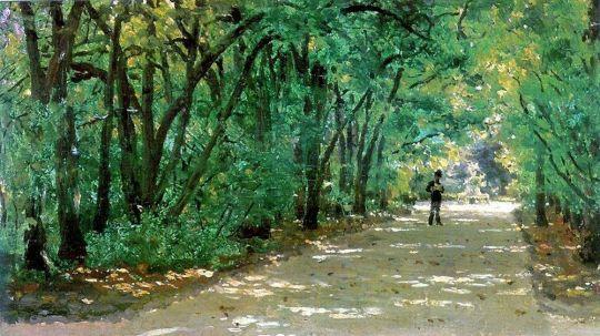 Аллея в парке. Качановка. 1880