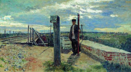 Железнодорожный сторож. Хотьково. 1882