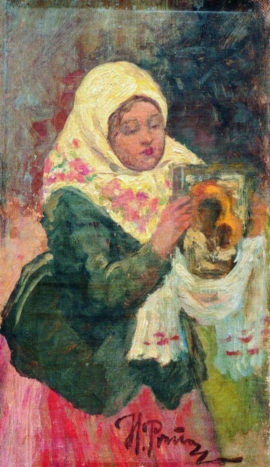 Этюд для картины Крестный ход в Курской губернии