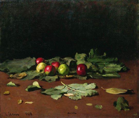Яблоки и листья. 1879
