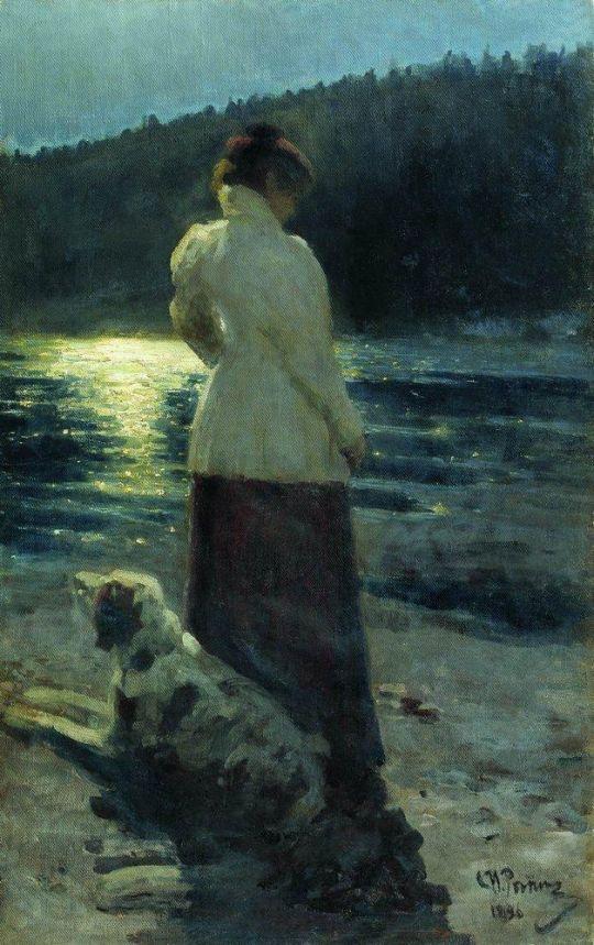 Луная ночь. Здравнево. 1896