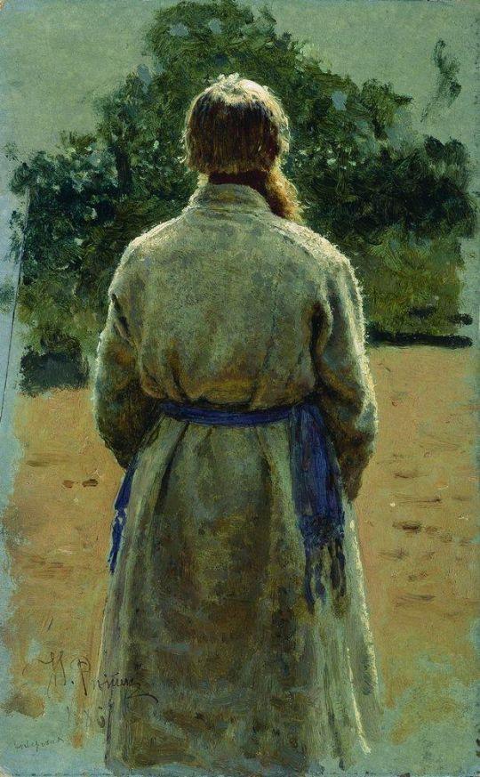 Старшина, со спины, освещенный солнцем. 1885