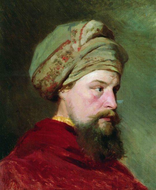 Голова натурщика. Вторая половина XIX века