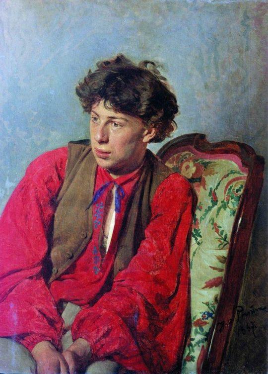 Портрет В.Е.Репина, брата художника. 1867