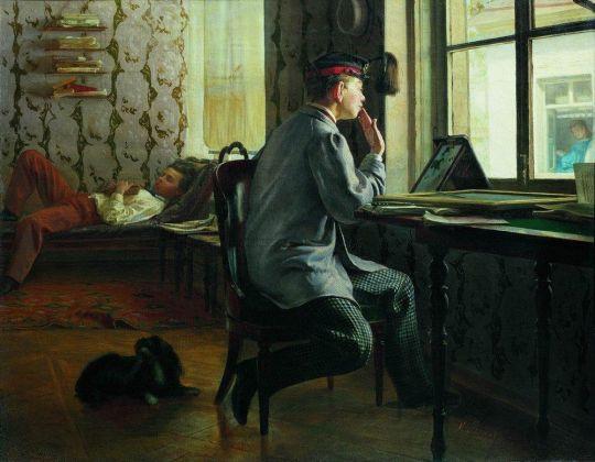 Приготовление к экзамену. 1864