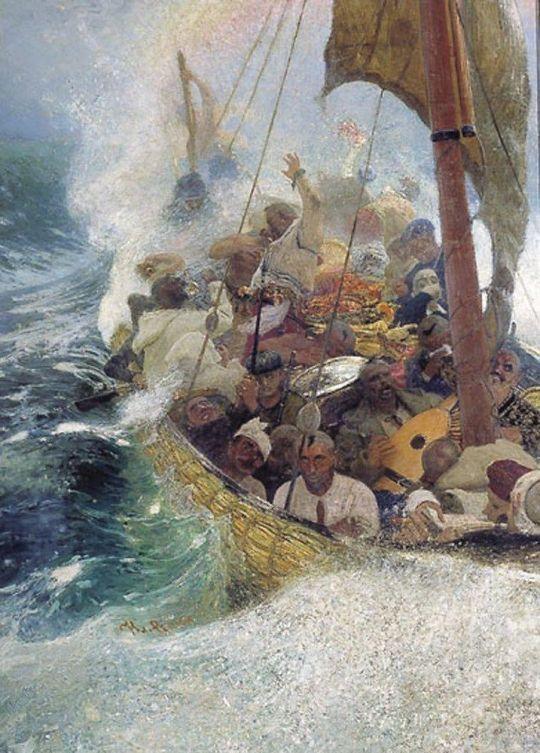 Казаки на Черном море. 1908