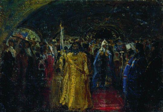 Выход патриарха Гермогена. 1881