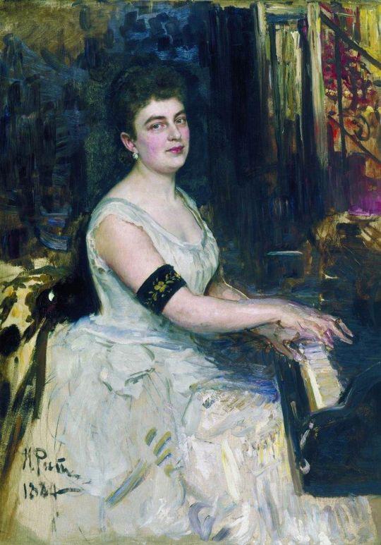 Портрет пианистки М.К.Бенуа. 1887