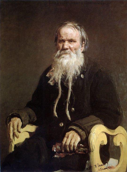 Портрет сказителя былин В.П.Щеголенкова. 1879