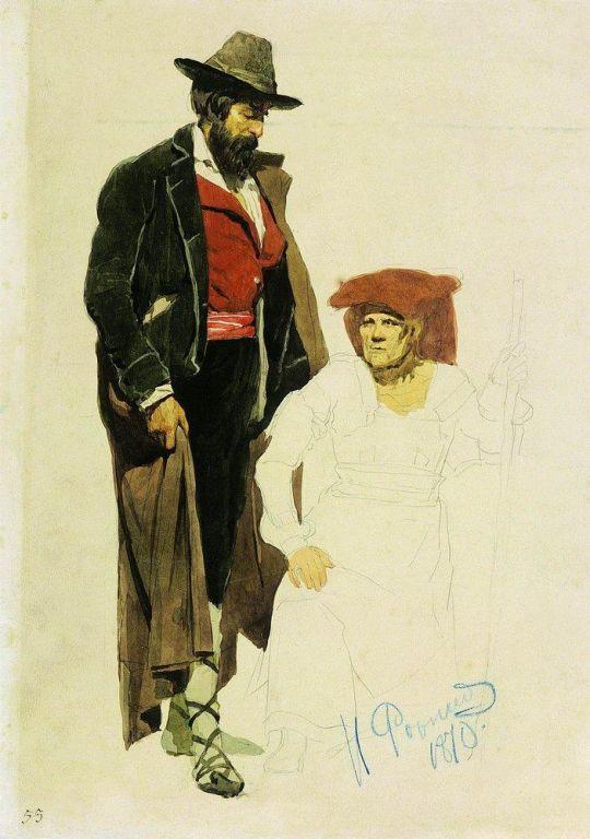 Итальянские натурщики. 1870