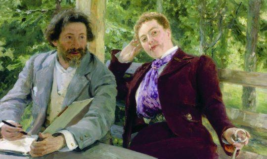 Автопортрет с Натальей Борисовной Нордман. 1903