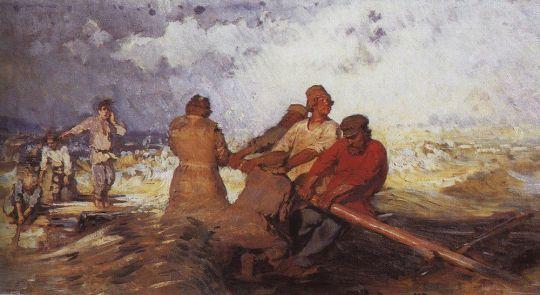 Шторм на Волге. 1870-1891
