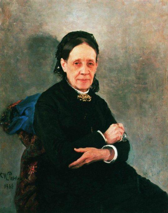 Портрет общественной деятельницы Н.В.Стасовой. 1884