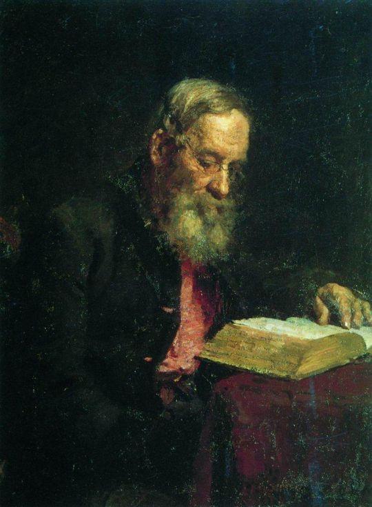 Портрет отца художника Е.В.Репина. 1879