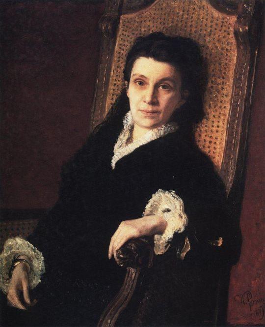 Портрет общественной деятельницы П.С.Стасовой, жены Д.В.Стасова. 1879