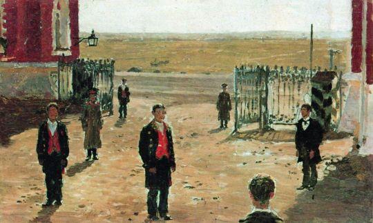 Двор Петровского дворца. 1885