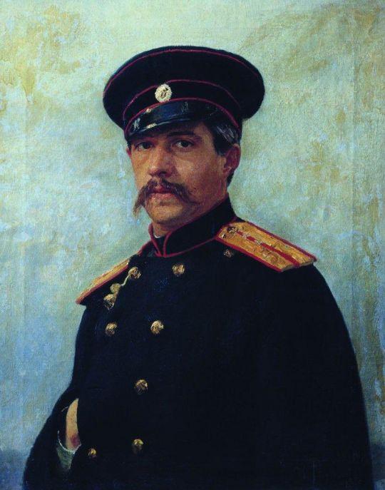 Портрет военного инженера, штабс-капитана А.А.Шевцова (1847–1919), брата жены художника. 1876