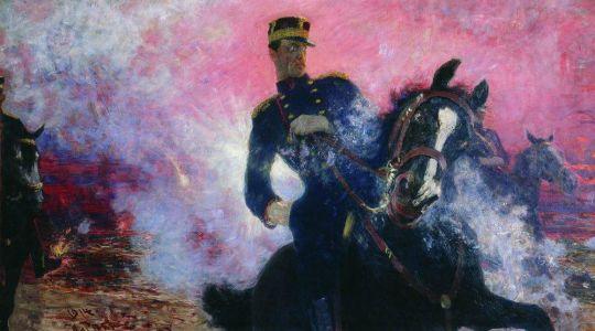 Бельгийский король Альберт в момент взрыва плотины в 1914 году. 1914