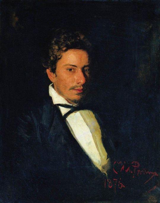 Портрет В.Е.Репина, музыканта, брата художника. 1876