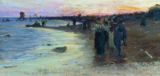На берегу Финского залива. 1903