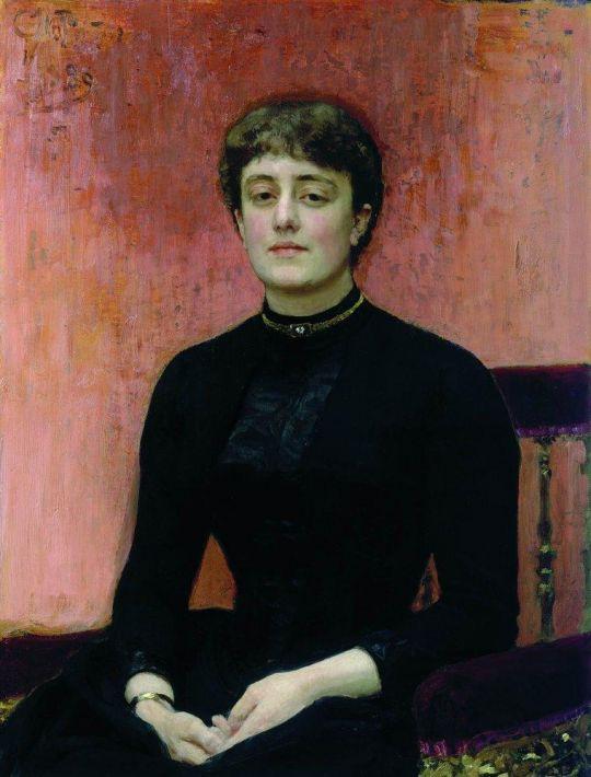 Портрет Е.Н.Званцевой. 1889