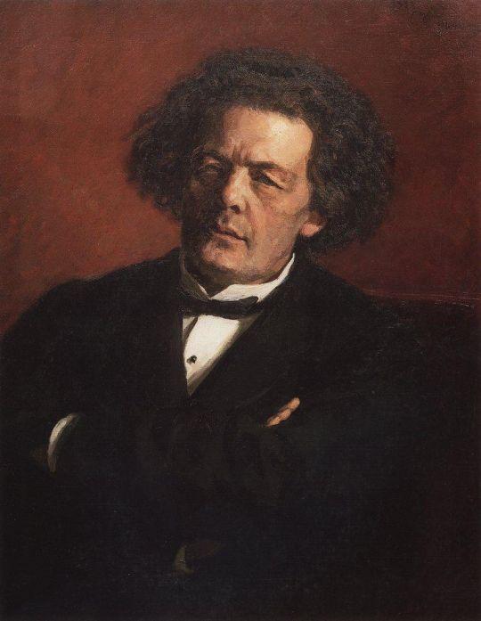 Портрет композитора А.Г.Рубинштейна. 1881