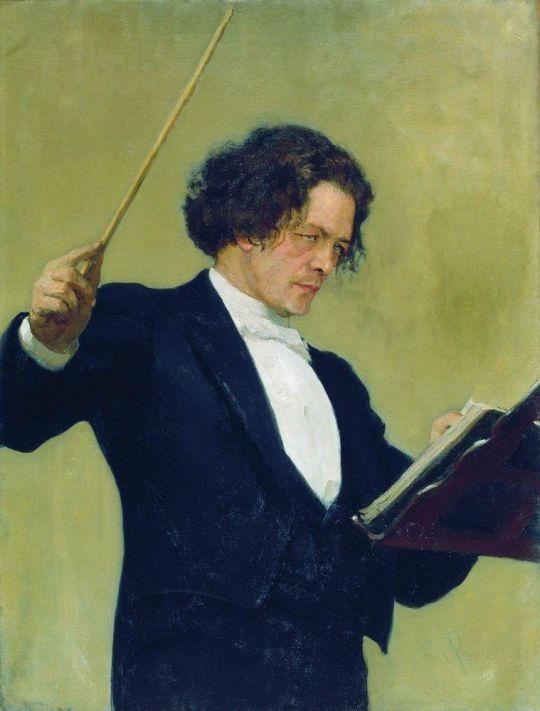 Портрет композитора А.Г.Рубинштейна. 1887
