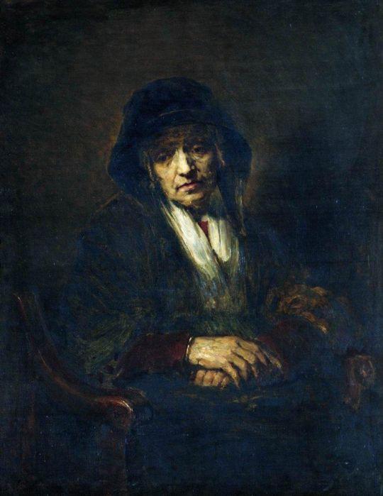 Портрет старушки. Начало 1870-х