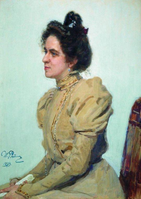 Портрет актрисы Любови Николаевны Сазоновой-Шуваловой. 1899