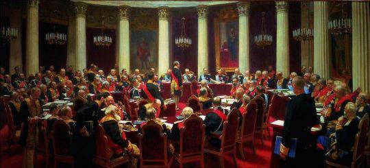 Торжественное заседание Государственного Совета 7 мая 1901 года в честь столетнего юбилея со дня его учреждения. 1903