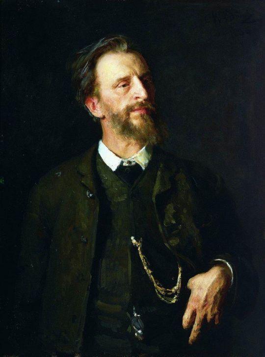 Портрет художника Г.Г.Мясоедова. 1884, 1886
