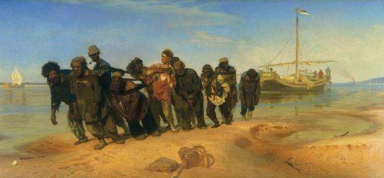 Бурлаки на Волге. 1870-1873