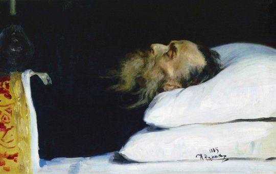 Историк Николай Иванович Костомаров в гробу. 1885