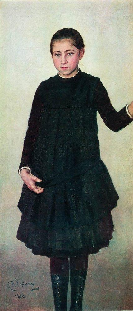 Портрет В.И.Репиной. 1886