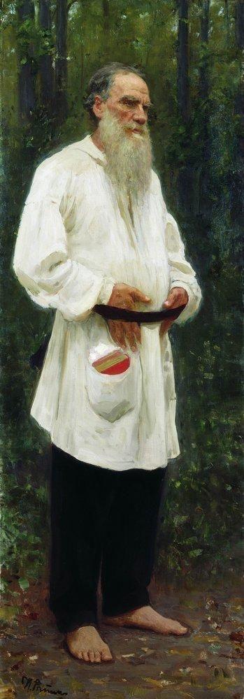 Л.Н.Толстой босой. 1901