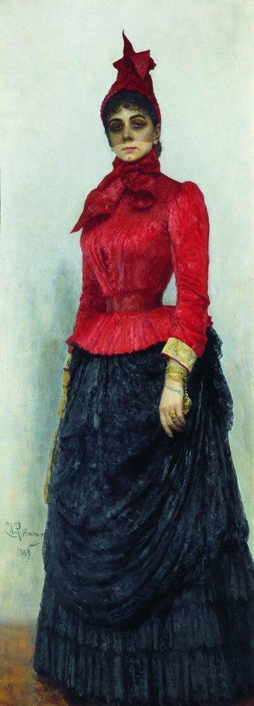 Портрет баронессы В.И.Икскуль фон Гильденбандт. 1889