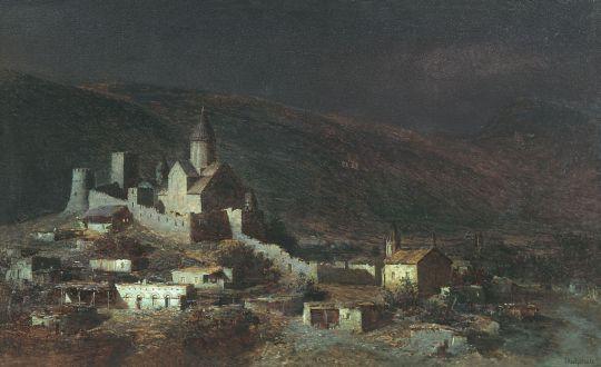 Ананур в Грузии. 1882 Холст, масло. 72 x 121 ГТГ
