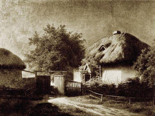 Хата в 'Яновщине'. 1909 Из журнала 'Нива', 1909