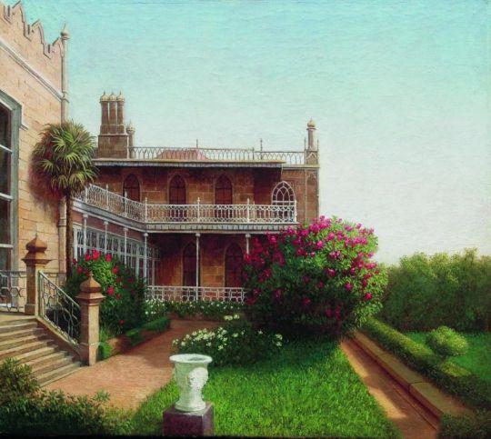 Дворец в Алупке. 1880–1890-е Холст, масло. 40.2 x 45.2 ЧС
